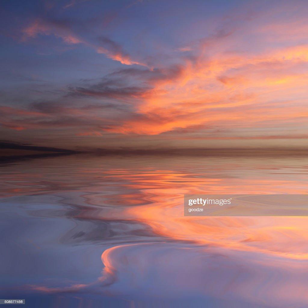 Schönes Wasser Reflexion : Stock-Foto