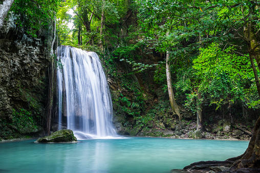 Beautiful waterfall in Thailand National Park 1002579550