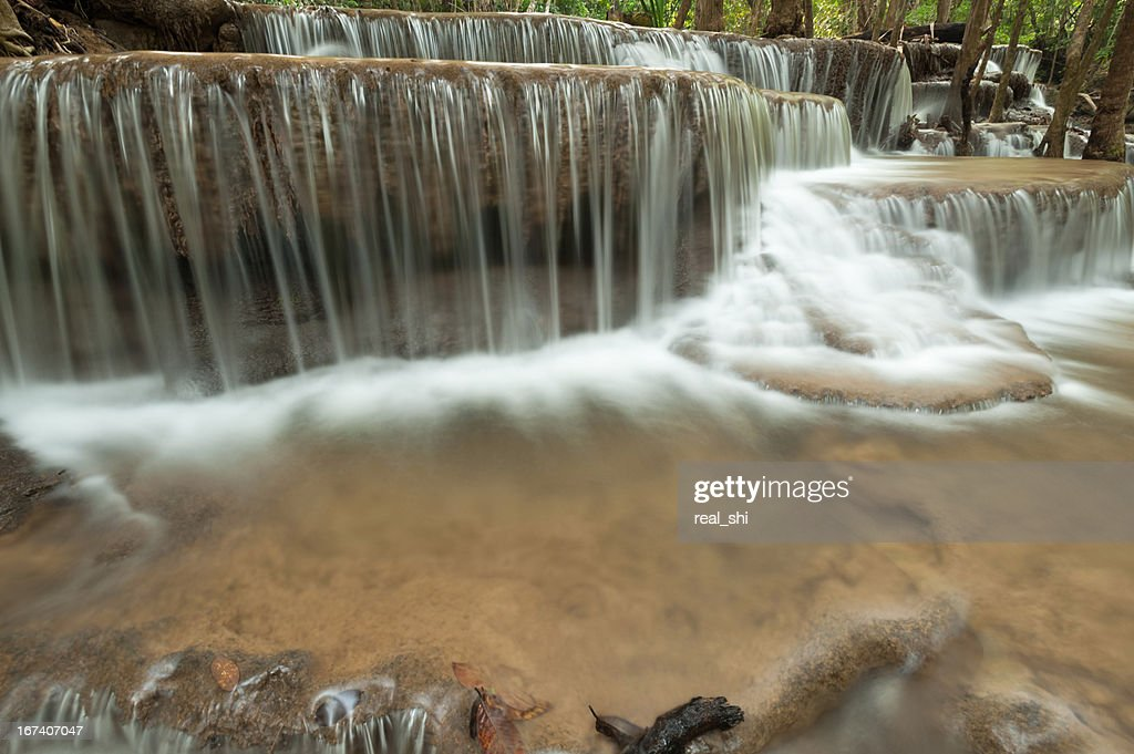 Beautiful waterfall in the forest : Stock Photo
