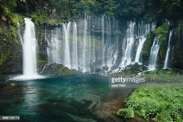 beautiful waterfall of fuji-hakone-izu national park, japan - fuji hakone izu national park stock photos and pictures