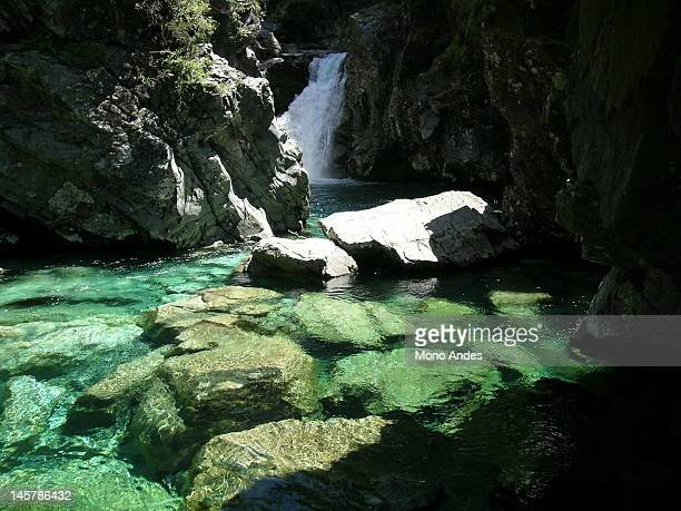 beautiful waterfall - biobio stock pictures, royalty-free photos & images
