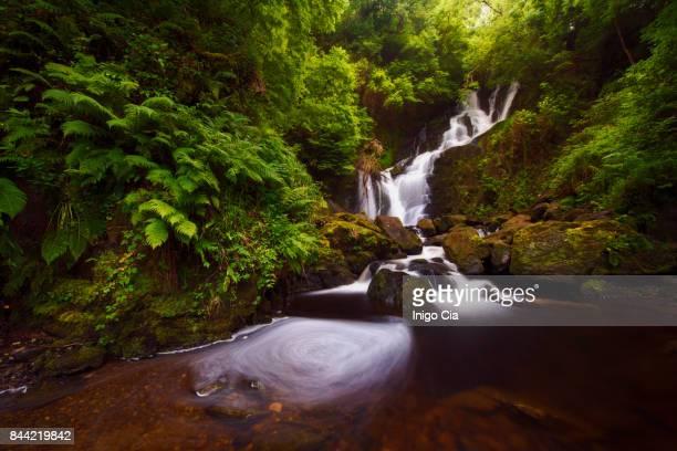 beautiful waterfall - wasserform stock-fotos und bilder