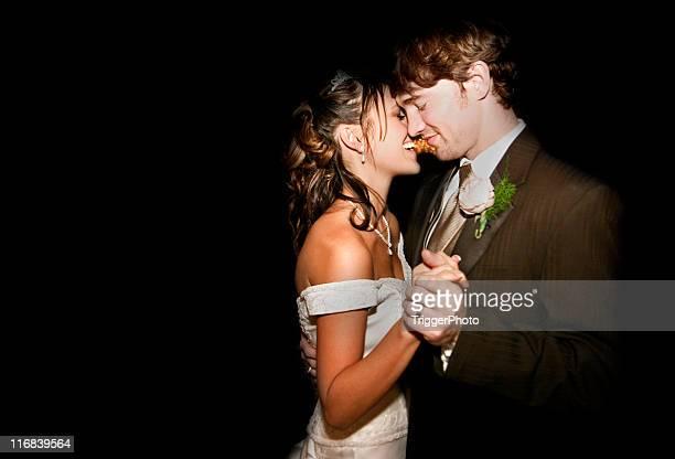Beautiful Wedding Bride and Groom Couple Dancing