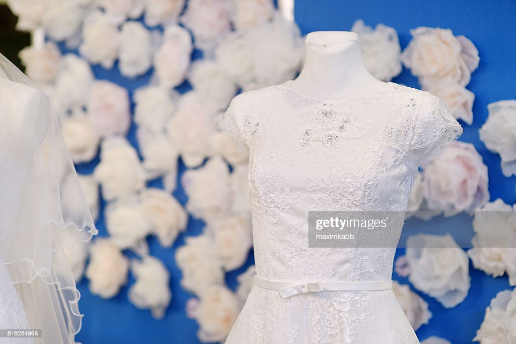 Lindos Vestidos de Casamento : Foto de stock