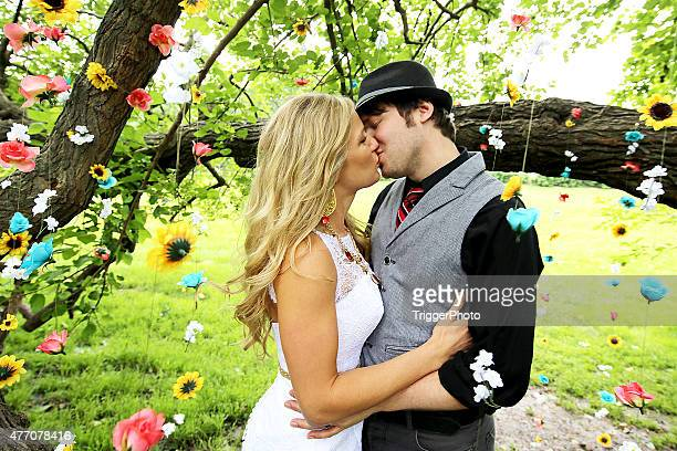 Schöne Hochzeit Kuss