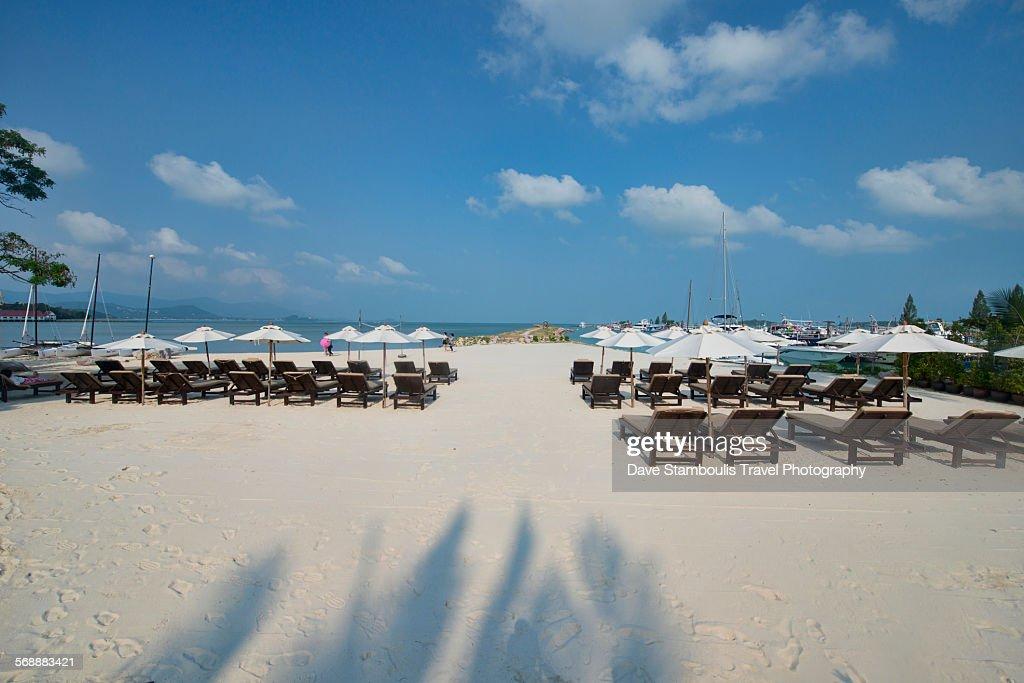 Beautiful white sand beach, : Stock Photo