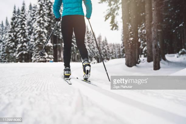 Schönen Wintertag perfekt für Aktivitäten im freien - Langlauf