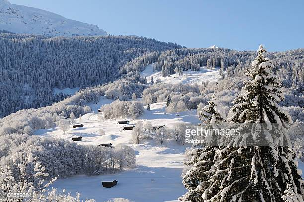 Beautiful Winter Landmarks Swiss Alps Davos