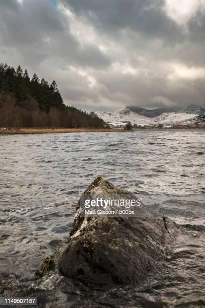 Beautiful Winter Landscape Image Of Llynnau Mymbyr In Snowdonia