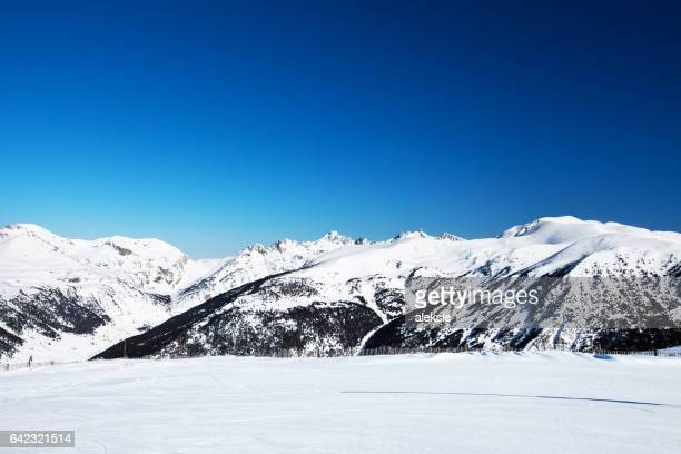 Beautiful winter mountains on a bright sunny day