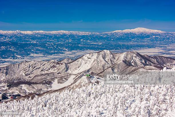 Beautiful winter scene of Japan