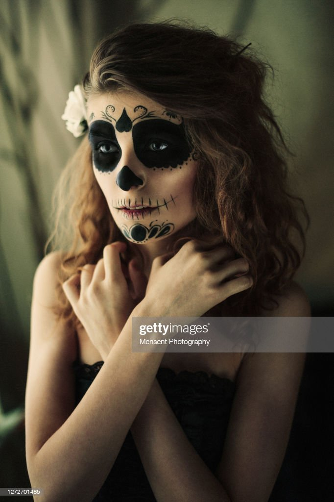 Beautiful Witch With Fancy Makeup A Halloween Holiday High Res Stock Photo Getty Images