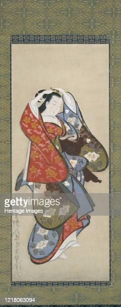 Beautiful Woman 18th century Artist Dohan Kaigetsudo