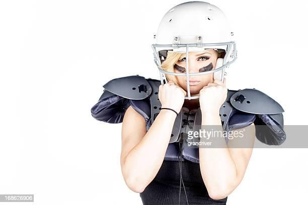 Beautiful Woman American Football Player