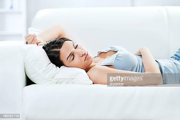Beautiful woman asleep.