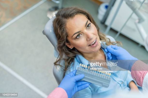 Beautiful woman at dentist office