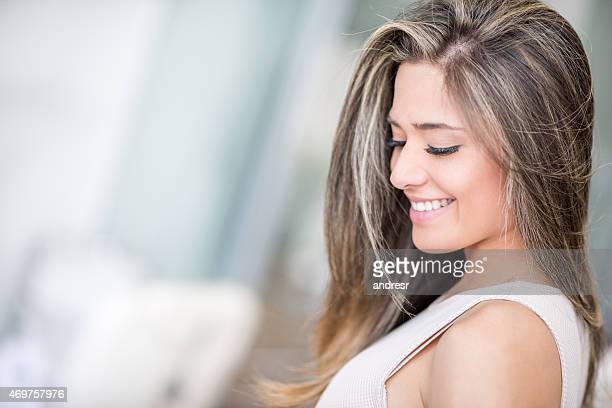 Beautiful woman at the hair salon