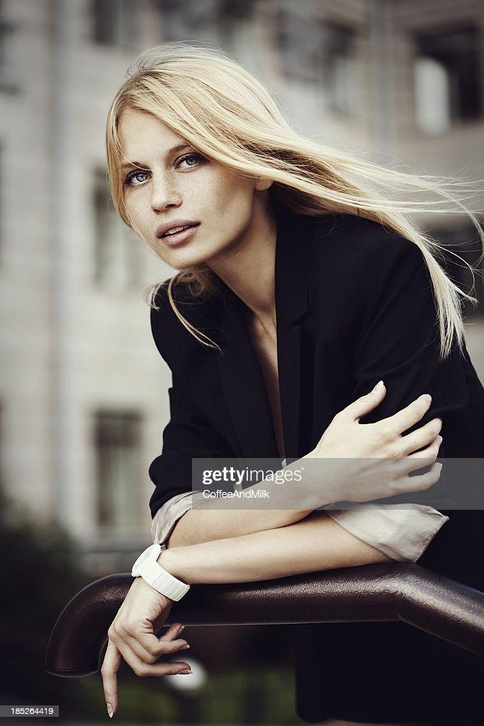 Beautiful woman at the street : Stock Photo