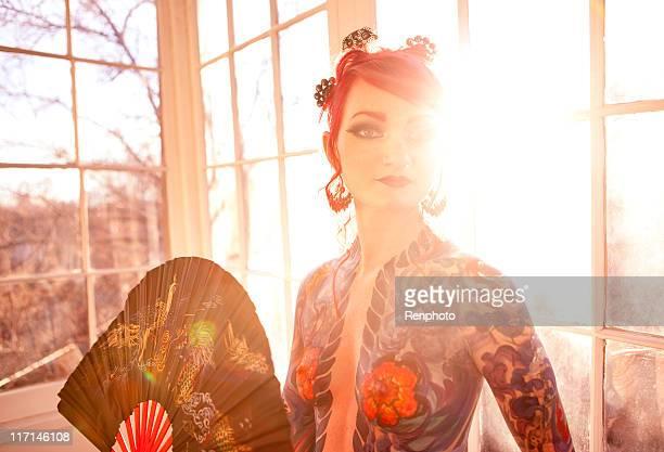 Beautiful Woman Body Painted