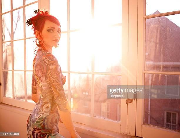 Belle femme peint du corps
