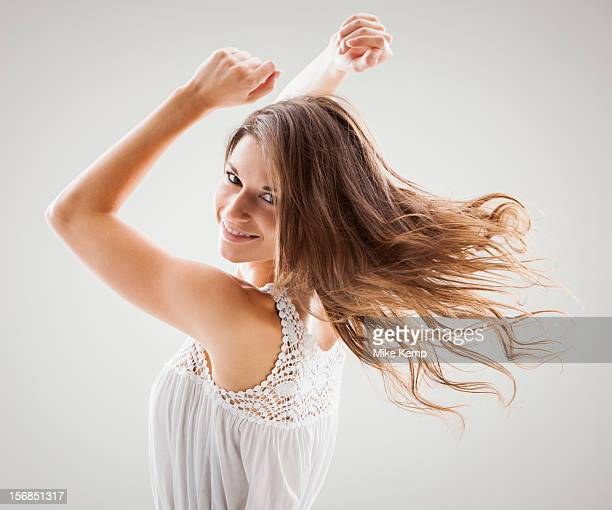 Beautiful woman dancing