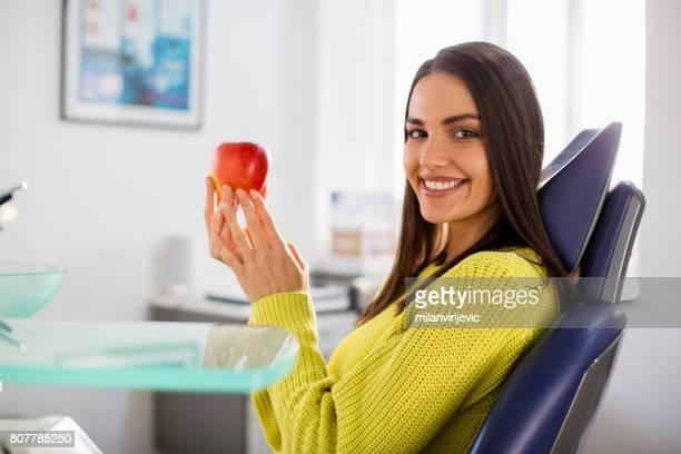 Beautiful woman dentist