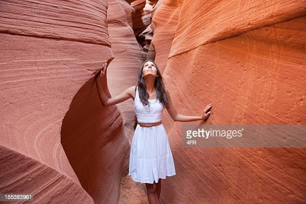 Beautiful woman enjoying the Beauty in Nature (XXXL)