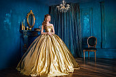 Beautiful woman in a ball gown