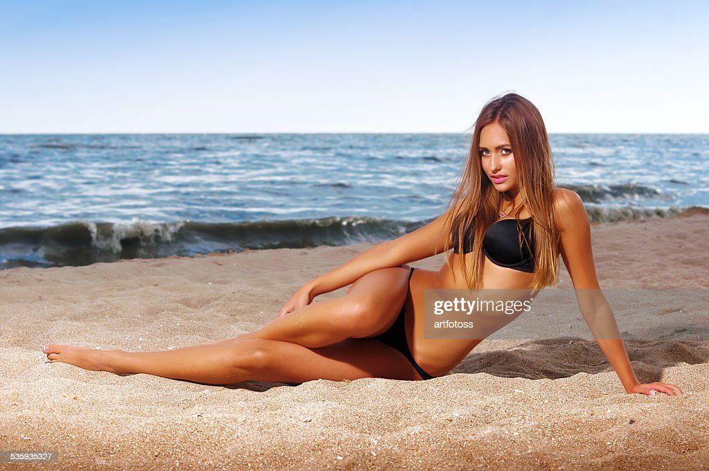 beautiful woman in a bathing suit : Stock Photo