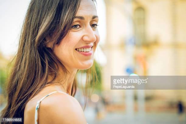 Beautiful woman in Barcelona