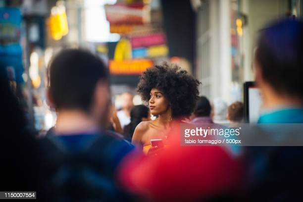 beautiful woman in new york - new yorker building stock photos and pictures