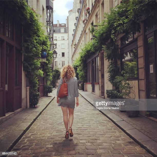 Beautiful Woman in Paris alley way