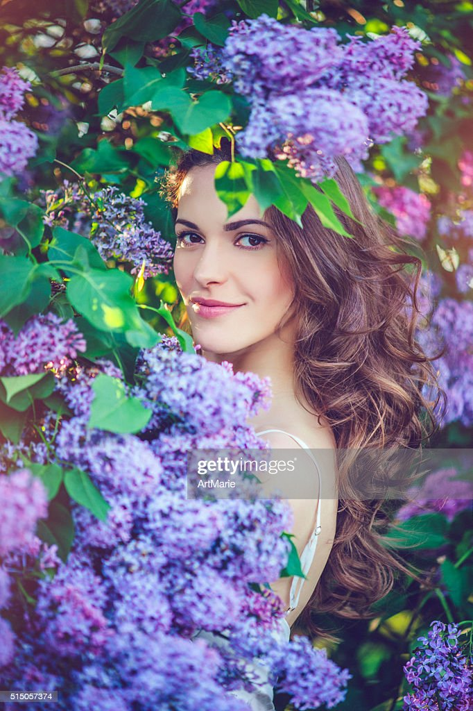 Beautiful woman in park : Stock Photo