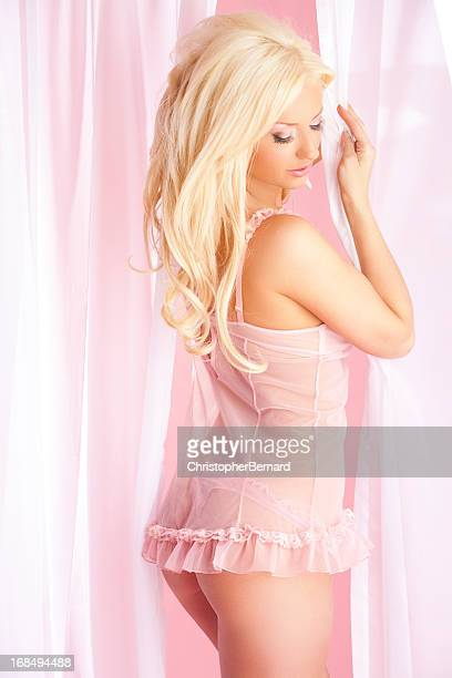 beautiful woman in pink lingerie - knickers photos stock pictures, royalty-free photos & images