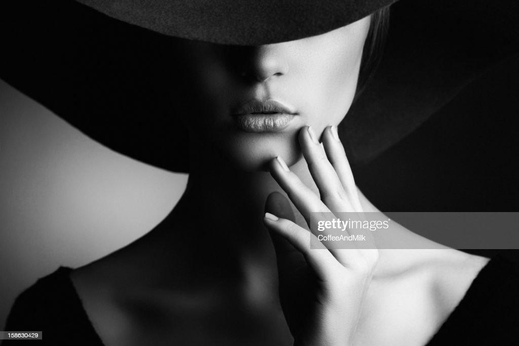 Schöne Frau im retro-Stil : Stock-Foto