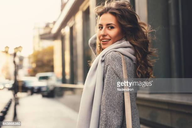beautiful woman in the city - a fall from grace stock pictures, royalty-free photos & images