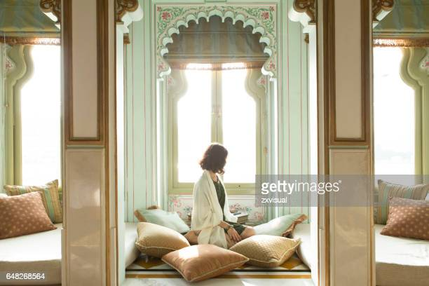 beautiful woman in udaipur - udaipur stock pictures, royalty-free photos & images