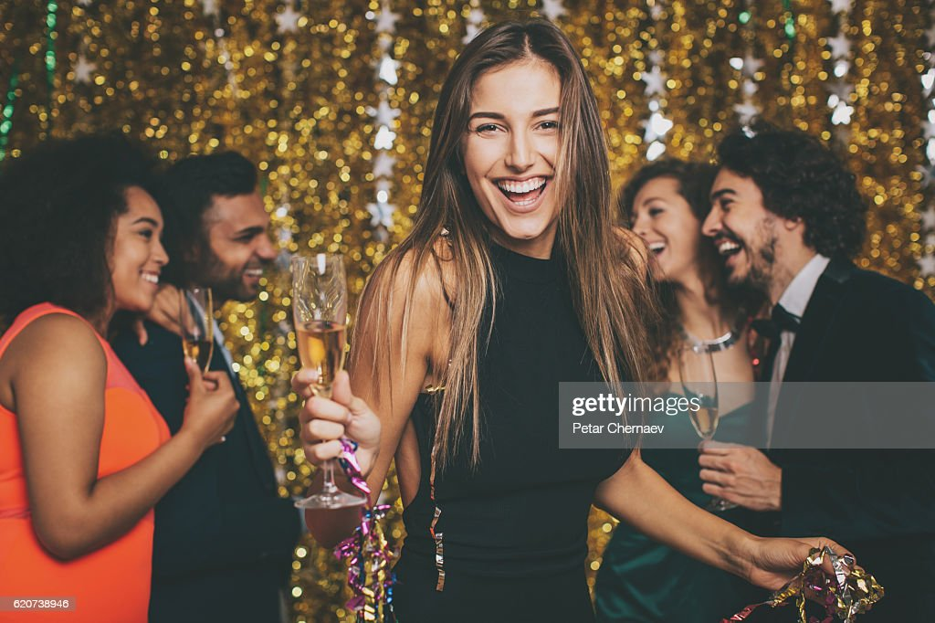 Beautiful woman on a formal party : Stock Photo