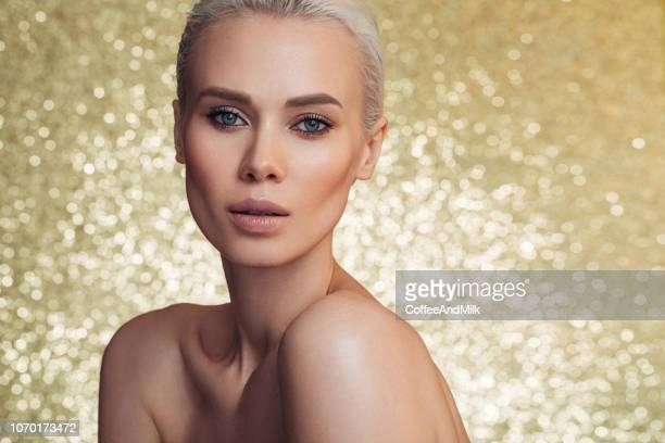 beautiful woman - beauty treatment stock pictures, royalty-free photos & images