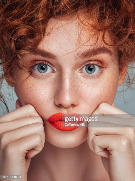 beautiful woman - redhead girl stock photos and pictures