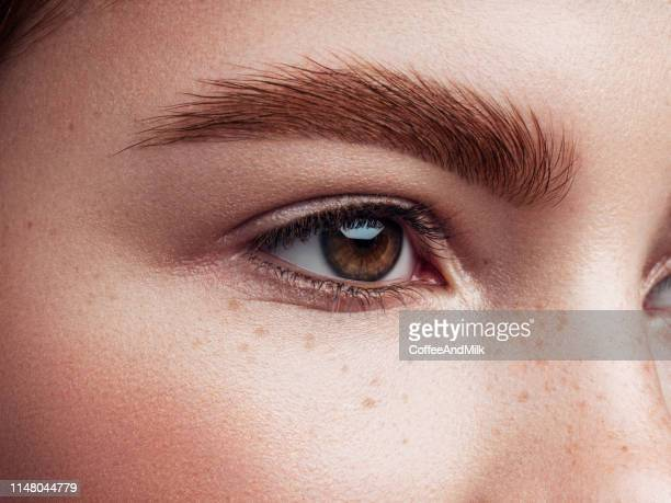 beautiful woman - eyebrow stock pictures, royalty-free photos & images