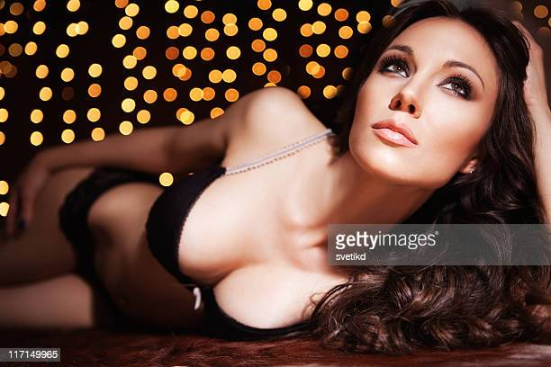 beautiful woman. - cleavage close up stock photos and pictures