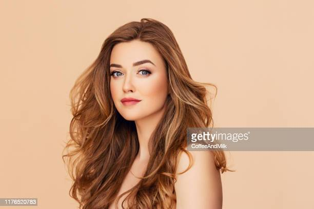 beautiful woman - hairstyle stock pictures, royalty-free photos & images