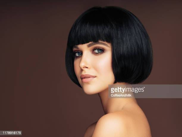 beautiful woman - bobbed hair stock pictures, royalty-free photos & images