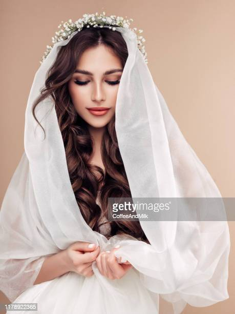 beautiful woman - bride stock pictures, royalty-free photos & images