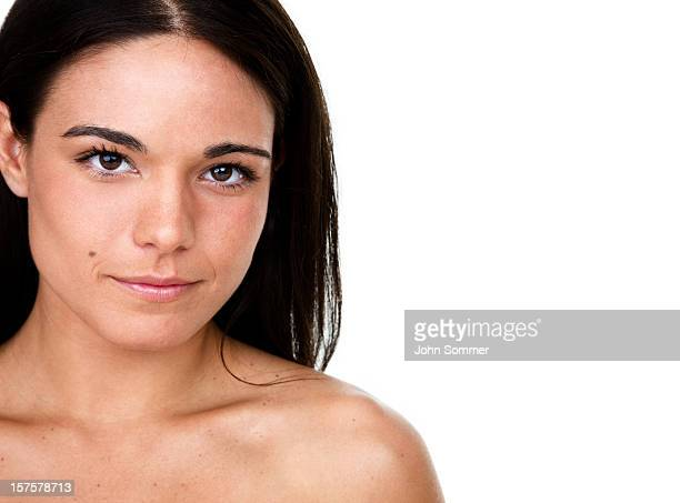 beautiful woman - mole stock photos and pictures