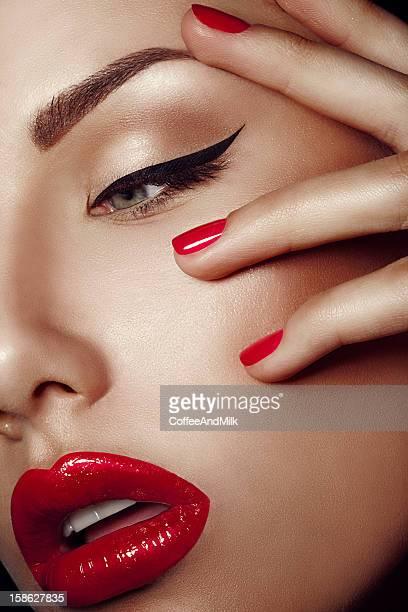beautiful woman - stage make up stock photos and pictures