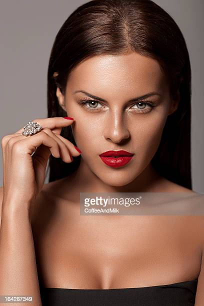 beautiful woman - cleavage close up stock photos and pictures