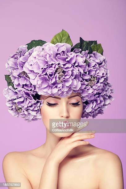 mulher bonita - coroa enfeite para cabeça - fotografias e filmes do acervo