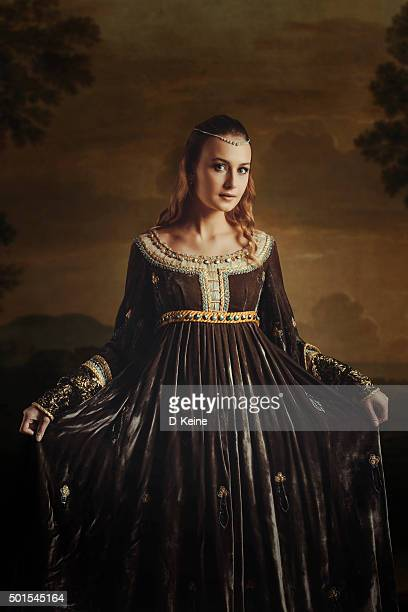 beautiful woman - medieval stock photos and pictures